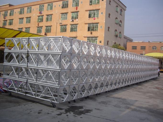 6061 400mm Exhibition Lighting Aluminum Spigot Truss Hard With Air Bubble Film