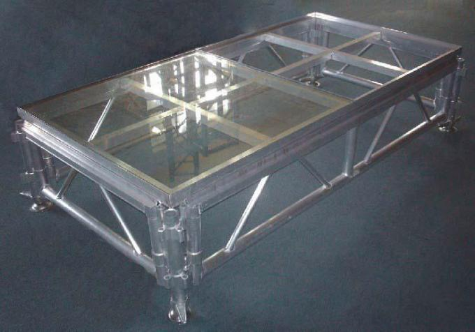 Light Weight Modular Portable Stage Platform Glass Deluxe Aluminum Frame