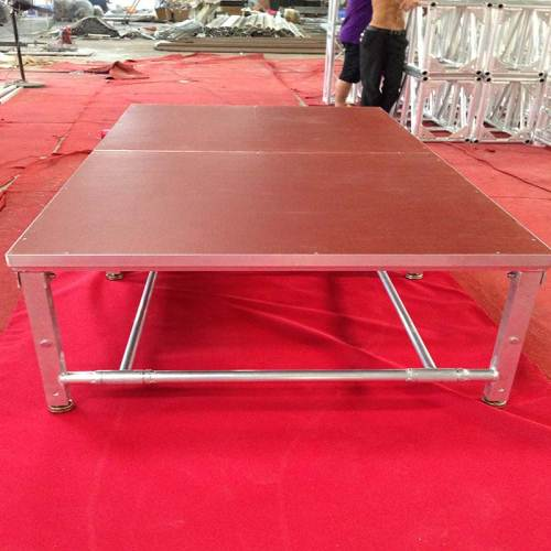 Anti - Rust Lightweight Aluminum Folding Stage , Small Mobile Stage Platform
