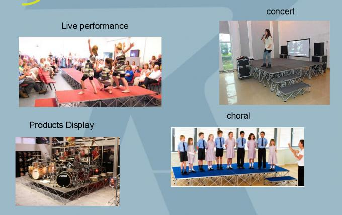 Plywood Aluminum Choir Stage , Concert Sing Folding Seated Choral Risers
