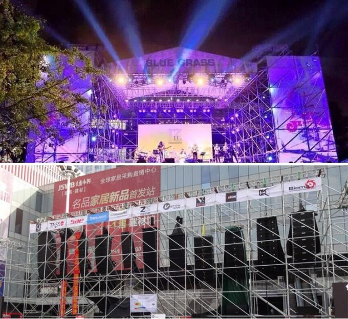 Portable Bolt Steel / Aluminium Stage Truss Systems Strong