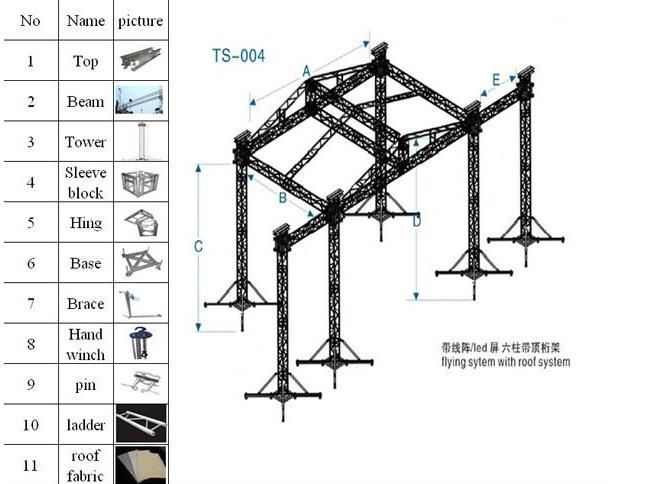 400×400 mm Mobile Aluminum Box Truss Pa Wings System
