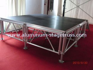 China Customized Aluminum Mobile Stage Platform Adjustable Height Non - Rust supplier