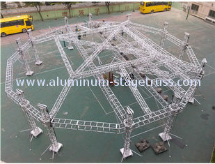 China Portable Adjustable Aluminum Box Truss Mobile Stage For Exhibition Easy Installation supplier