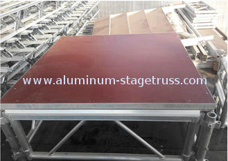 China Anti - Rust Lightweight Aluminum Folding Stage , Small Mobile Stage Platform supplier