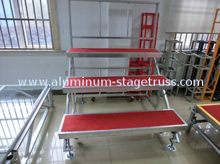 China Durable Flexible Aluminum Choir Stage , Stage Performance Portable Choir Risers supplier