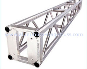 China Compact 6082 T6 Aluminum Stage Truss , Strength Aluminium Box Truss 520x760x1000 mm supplier