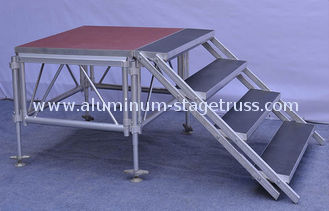 China Anti - Slip Square Aluminum Folding Stage , Smart Mobile Outdoor Stage Platform supplier