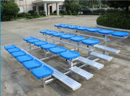 China 4 Row Lightweight Aluminum Bleacher Seats Space Saving Quick Assembly factory