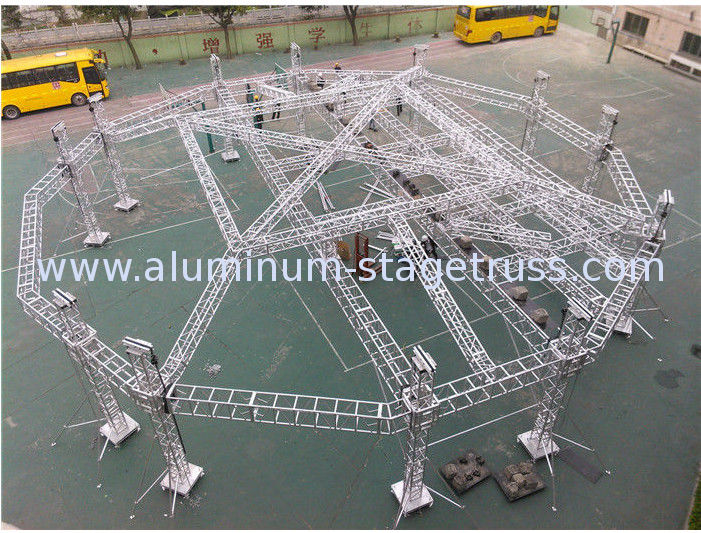 Portable Adjustable Aluminum Box Truss Mobile Stage For
