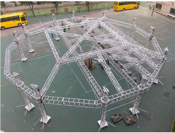 China Portable Adjustable Aluminum Box Truss Mobile Stage For Exhibition Easy Installation distributor