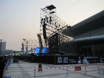 China Aluminum Layer Stage System , Outdoor Performance Stage Lighting Truss Spigot distributor