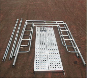 China Aluminum Ladder Frame Scaffolding System High Strength For Building Construction distributor