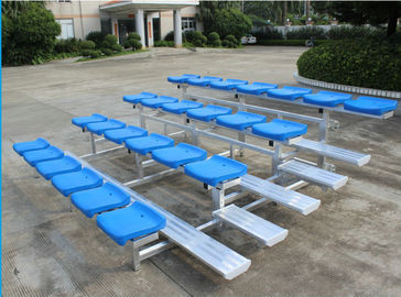 China 4 Row Lightweight Aluminum Bleacher Seats Space Saving Quick Assembly distributor