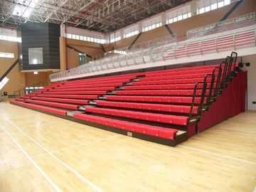 China Aluminum Collapsible Bleachers Seating Firepoof For School Sports High Load Capacity distributor