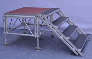 China Anti - Slip Square Aluminum Folding Stage , Smart Mobile Outdoor Stage Platform distributor