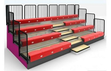 China Classic 4 Row Portable Indoor Bleachers Adjustable With Aluminum / Steel Seats distributor