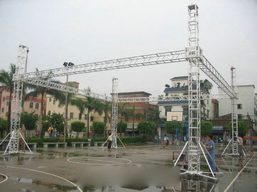 China Outdoor Events Aluminum Box Truss / Aluminum Square Truss System Bolt Connect Truss distributor
