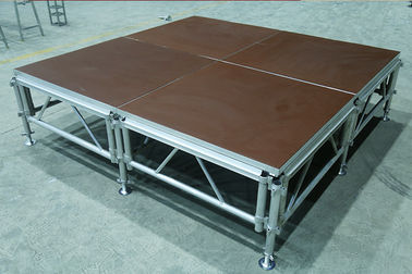 China Aluminum Folding Movable Stage Platform with 18mm thickness Anti-slip Plywood distributor