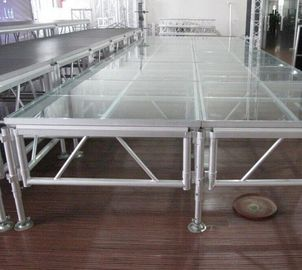 China 6082 Aluminum Movable Stage Platform 18mm Thinkness Anti Slip And Fireproof Plywood For event on water distributor