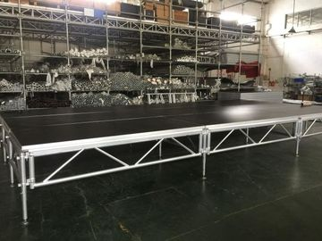 China 1 - 1.4m Indoor / Outdoor Assemble Aluminum Stage Platform 6082-T6 Material For Events distributor